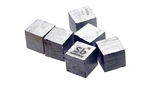 안티 모니 금속 10mm 밀도 큐브 99.95 % 순수/Antimony Metal 10mm..