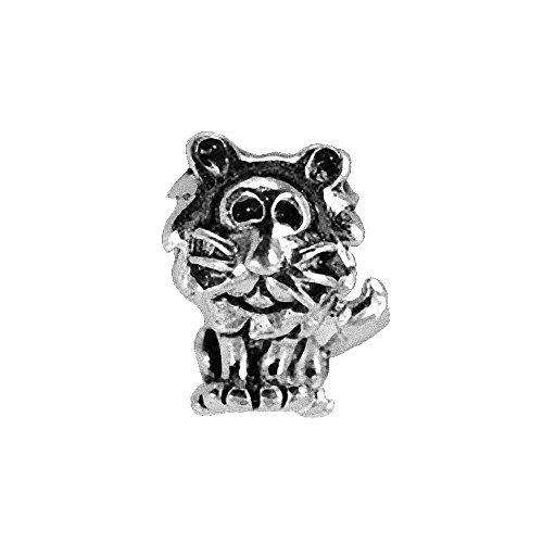 - Real Sterling Silver 925 New King Lion Charm European bead for bracelet Real