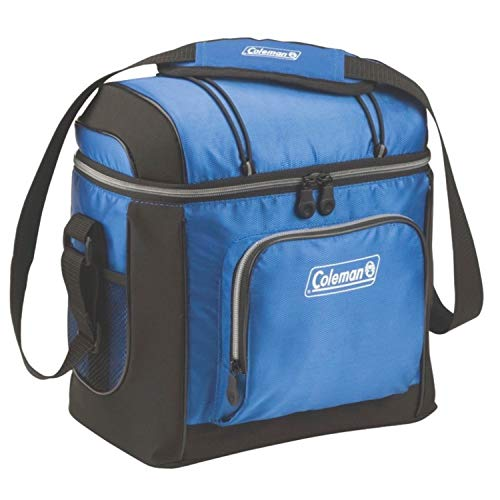 Coleman Soft Cooler Bag | Keeps Ice Up to 24 Hours | 16-Can Insulated Lunch Cooler with Adjustable Shoulder Straps & Removable Liner | Great for Picnics, BBQs, Camping, Tailgating & Outdoor Activities