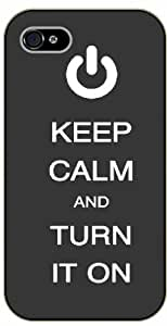 iPhone 5 / 5s Keep Calm and turn it on - black plastic case / Keep Calm, Motivation and Inspiration