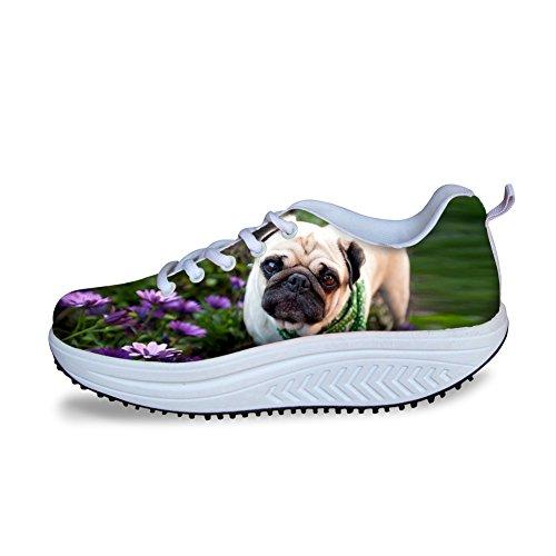 Pink for Pug IDEA Fitness Fashion Dog Sneakers Women Walking HUGS Shoes Platform 58Uwq7wS