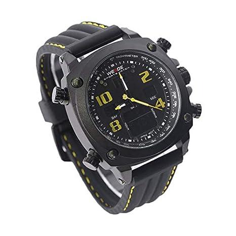 Lovelysunshiny Hombres Famosos Relojes de Pulsera Cinturón de Silicona Hombres Cuarzo Analógico Fecha Automática Digital: Amazon.es: Hogar