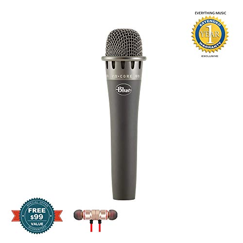 Blue Microphones enCORE 100i Microphone, Cardioid includes Free Wireless Earbuds - Stereo Bluetooth In-ear and 1 Year Everything Music Extended Warranty ()