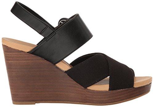 Dr. Scholl's Modest Pelle Sandalo con la Zeppa
