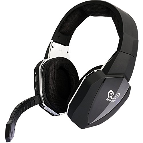 Wireless Optical Stereo Gaming Headset Over ear Comfortable Headphones for PS4 PS3 Xbox 1 Xbox 360 PC Computer with Detachable Microphone(Connect with XBOX ONE via Microsoft adaptor or - Wireless Xbox 360 Headsets