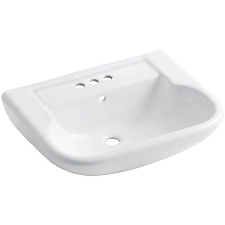 Sterling 446424 0 Southampton Pedestal Lavatory Sink Basin, White