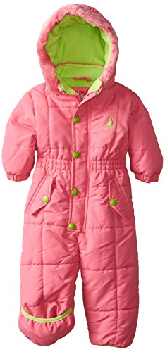 Rugged Bear Baby Girls' Solid Snowpram, Strawberry, 12 Months