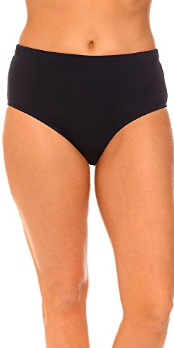 Aquabelle Women's Chlorine Resistant Brief 10 Black