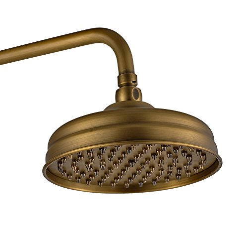 Traditional Antique Brass Finish Rain Style Showerhead Solid Brass ...
