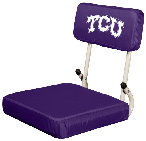 Logo Brands NCAA TCU Horned Frogs Hard Back Stadium Seat