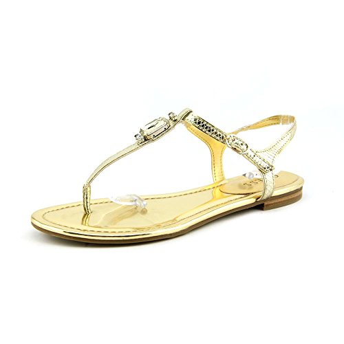 Guess Feredi3 Womens Size 8.5 Gold Thongs Sandals Shoes