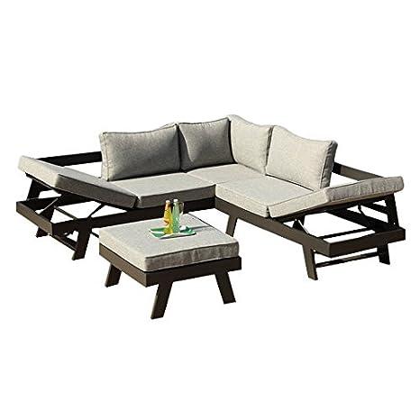 greemotion Panama Salon de Jardin, Lounge Set de 3 Pièces ...