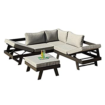Amazon.de: greemotion 128510 Lounge Set Aluminium PANAMA-Alu ...