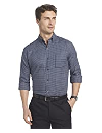 Van Heusen Mens Flex Long Sleeves Stretch Shirt Button Down Shirt