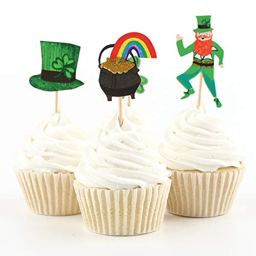 iMagitek 24 Pack Magician Cupcake Toppers Picks, Cake Decorations for Birthday Party, Wedding, Magician Party, Magic Show -
