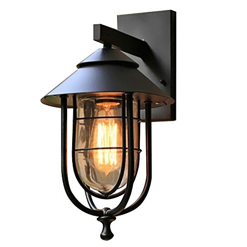 - Home Decorators Collection 17547 1-Light Sand Black Small Outdoor Wall Mount Sconce