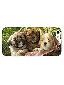 3d Full Wrap Case for iPhone 6 plus 5.5 Animal Cute Puppies In A Basket