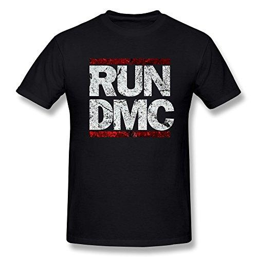 YvonneArt Men's Run¨CD.M.C. Retro Logo Tee Black XX-Large