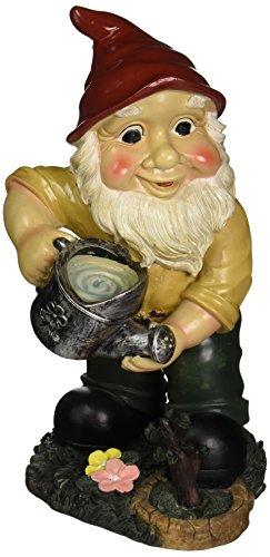 Design Toscano Garden Gnome Statue - Gulliver & Mushroomie the Garden Gnome Set - Lawn Gnome