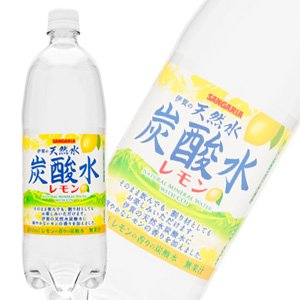 Sangaria Iga natural water carbonated water lemon PET1L [1000ml] X12 pieces of [X2 Case: total 24] by SANGARIA