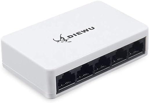 5 Ports Fast RJ45 100//1000Mbps LAN Ethernet Network Switch Desktop Hub PC Router