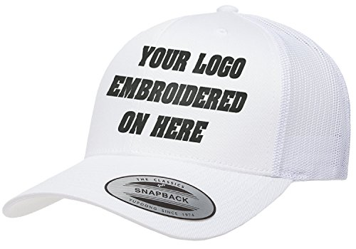 4125b6962ea UNAMEIT Custom Trucker Hat. Yupoong. Embroidered. Your Own Logo Curved Bill  Snapback. (White) - Buy Online in Oman.