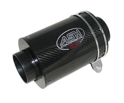 AutoSiliconeHoses.com Genuine Carbon Fibre Air Box Filter CAB001: