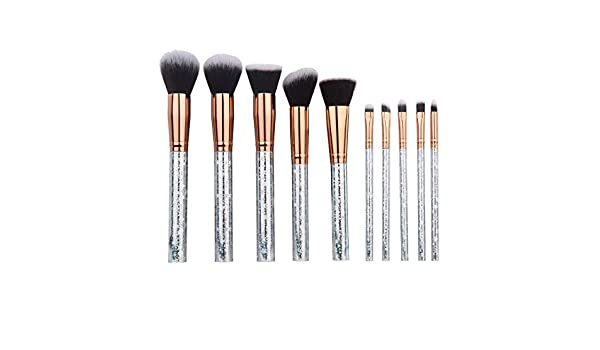 Amazon.com: 10Pcs Diamond Design Makeup Brush Set Cosmetics ...