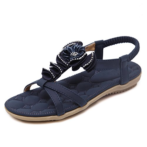 AdeeSu Womens Embroidered Hiking Travel Urethane Sandals SLC03999 Royalblue