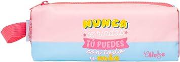 Erik – Estuche Escolar Carouge, Rosa y Azul, 20 x 5 cm: Amazon.es: Equipaje