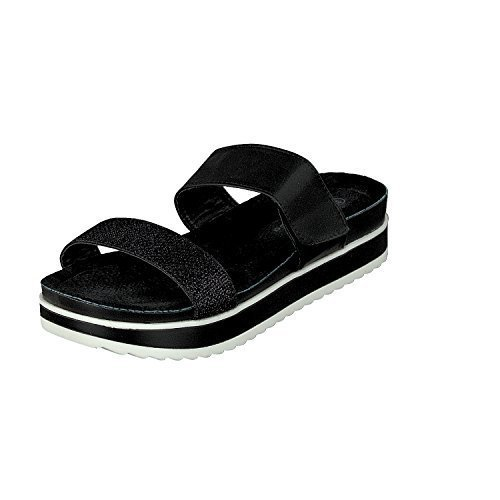 Linea Scarpa Salerno Mules Casual Shoes Ladies Black FCyVr0f