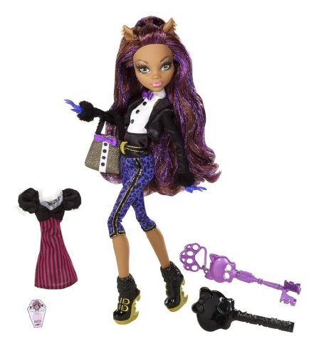 Toy / Game Cute Monster High Ghouls Rule Clawdeen Wolf Doll With Over-The-Top Costume And Halloween Accessories]()