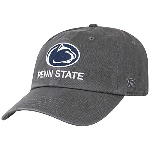 Top of the World NCAA Men's Hat Adjustable Vault Vintage Charcoal, Penn State Nittany Lions