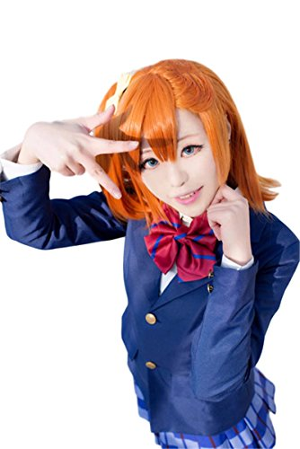 Love Live!Kousaka Honoka Japanese Student Uniform (Blazer) Cosplay Costume (M(158-162cm) 5'25, Blazer + Red ties)