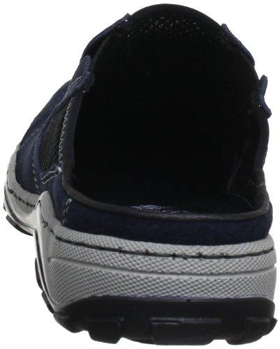 Rieker 08097 - Zuecos de cuero para hombre Azul (Blau (pazifik/schwarz 14))