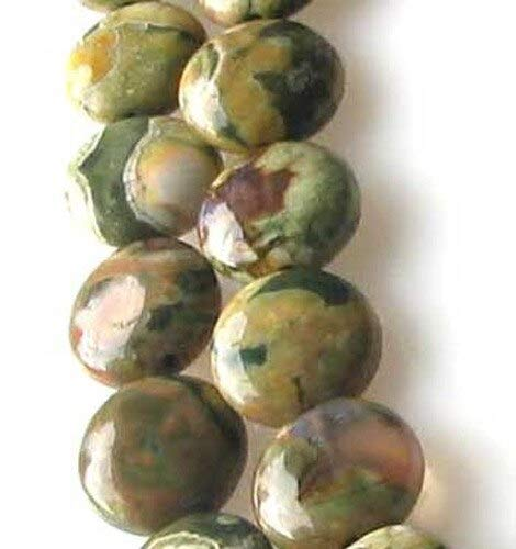 - Raintree Rhyolite Jasper 11mm Coin Bead 8