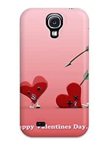 Hot Snap-on Happy Hearts Day Hard Cover Case/ Protective Case For Galaxy S4