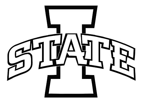 ncaa0020 Iowa State Cyclones Die Cut Vinyl Graphic Outline Decal Sticker NCAA Color Choice 8