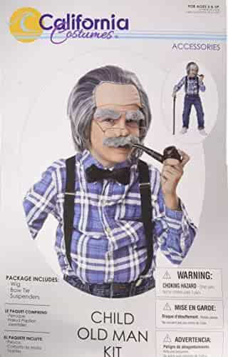 California Costumes Old Man Kit - Child, Assorted