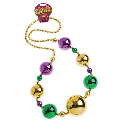 [GIFTEXPRESS Jumbo Disco Ball Mardi Gras Necklace/ 44