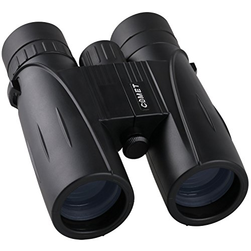 8x42 Binoculars for Bird Watching, COMET Wide Angle High Magnification Super High-Powered Compact Portable Waterproof Fogproof Durable HD Zoom Professional Optical Telescope Binoculars Black