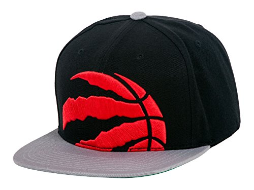 Mitchell & Ness NBA Cropped XL Logo Adjustable Snapback Hat (One Size, Toronto Raptors)
