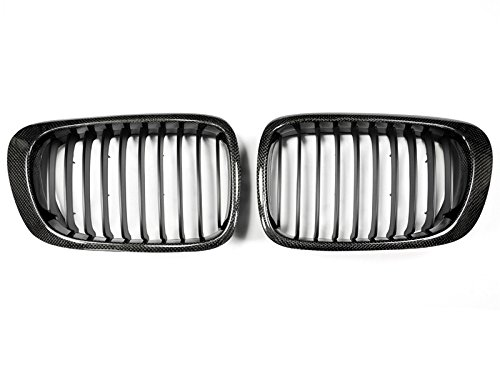 Bmw E46 Face Lift - AutoTecknic Carbon Fiber Front Grille - BMW e46 pre-facelift 3 series coupe/ M3