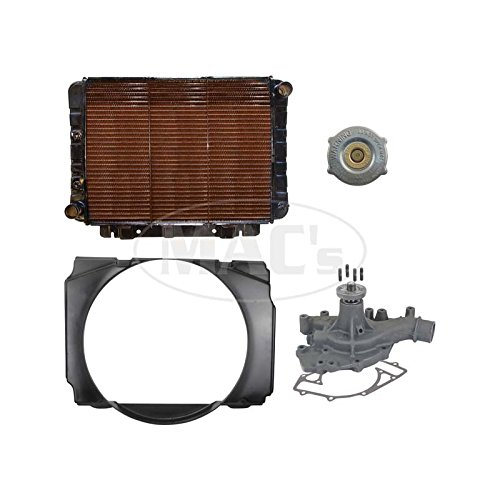 MACs Auto Parts 60-83341 70/71 B/R Fairlane/Ranchero Cooling Kit (3 Row-429) by MACs Auto Parts