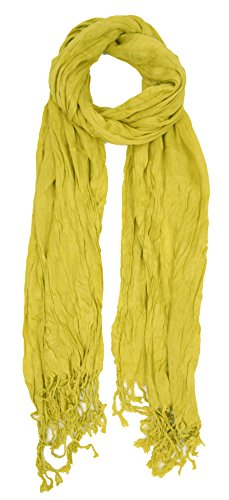 Love Lakeside-Women's Must Have Solid Color Crinkle Scarf (One, Avocado Green) by Love Lakeside (Image #1)