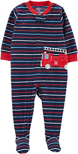 (Carter's Baby Boy's One Piece Fleece Pajamas 12M-5T, Fire Rescue, 18 Months)
