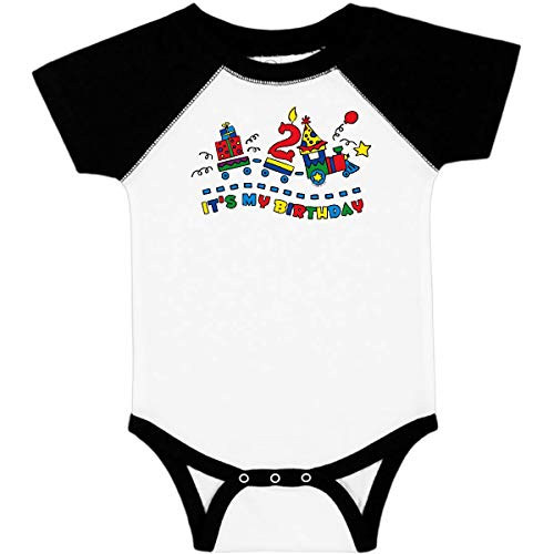 inktastic - Choo Choo 2nd Birthday Infant Creeper 24 Months White & Black 3715