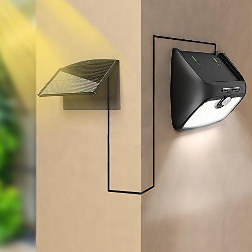 411H27kzJpL - Solar Lights Outdoor, Bcway [48 LED Super Bright] [Detachable Solar Panel] 8.2ft ExtensionCord Waterproof Security Lighting Nightlight with Motion Sensor Detector for Patio Yard Garden Path