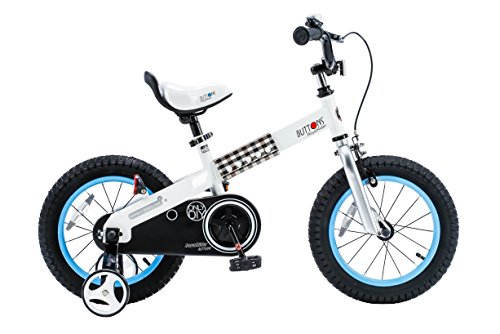 "RoyalBaby CubeTube Buttons 16""  Bicycle for Kids, Blue"