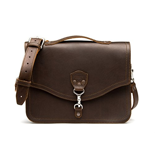 [Saddleback Leather Laptop Bag Dark Coffee Brown] (Medium Bag Dark Coffee)